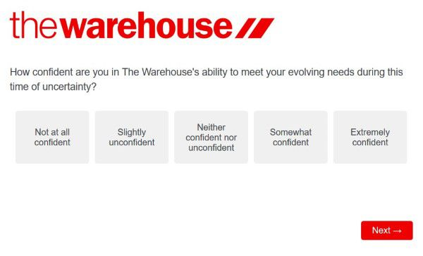 Confidence In Their Store The Warehouse Survey
