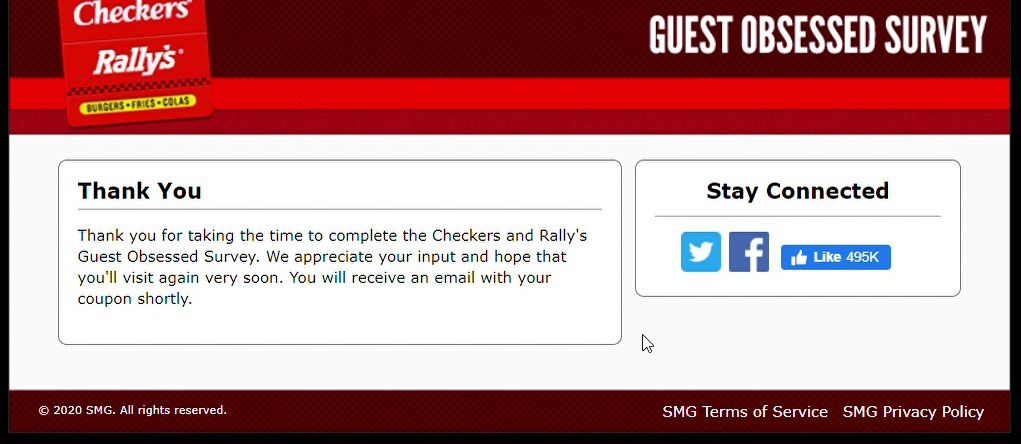 Coupon For Checkers And Rally's After Completing Survey