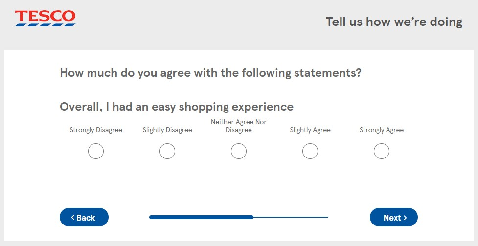 Do You Think You Had An Good Overall Shopping Experience At Tesco