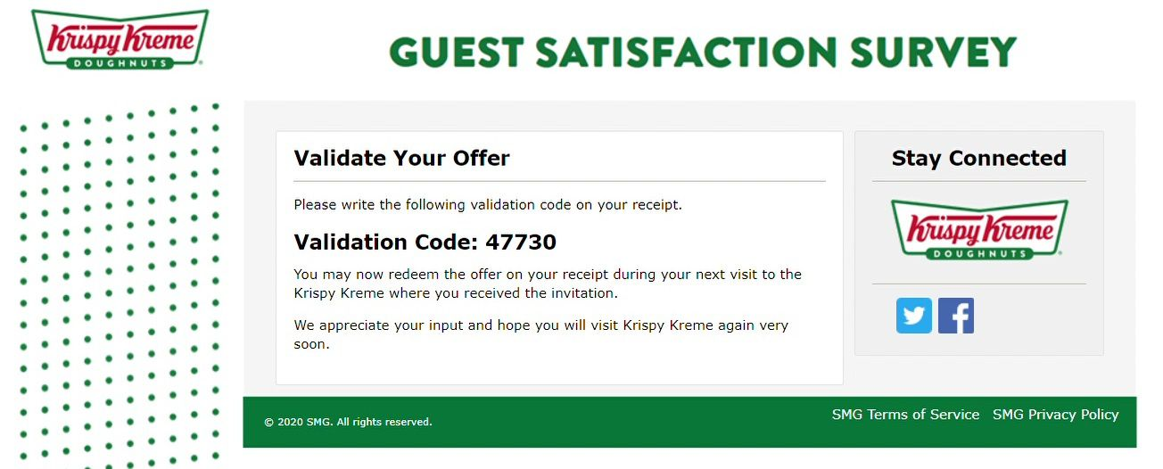 Free Doughnut Offer From Krispy Kremes Survey