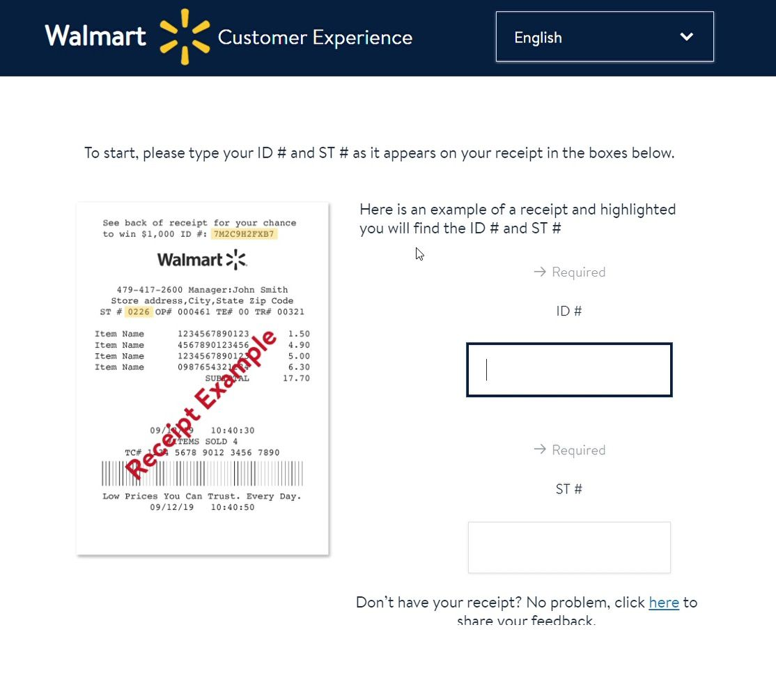 Front Page Of Walmart Survey