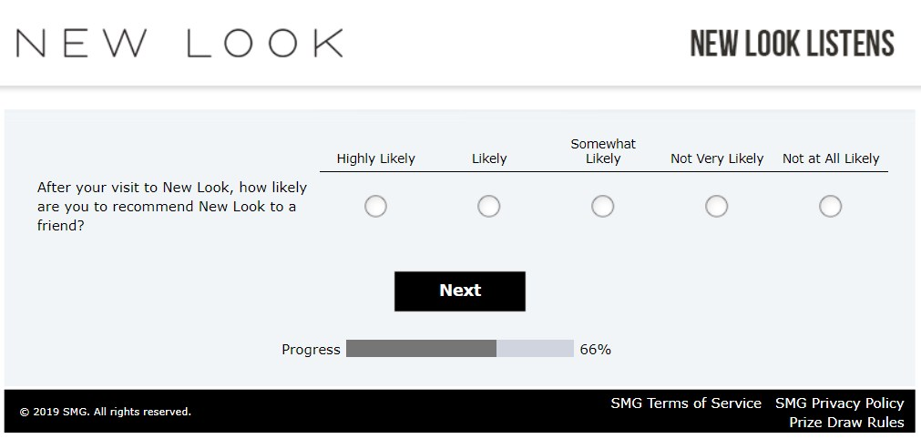 How Likely Is It That You'll Recommend New Look Based On Your Experience