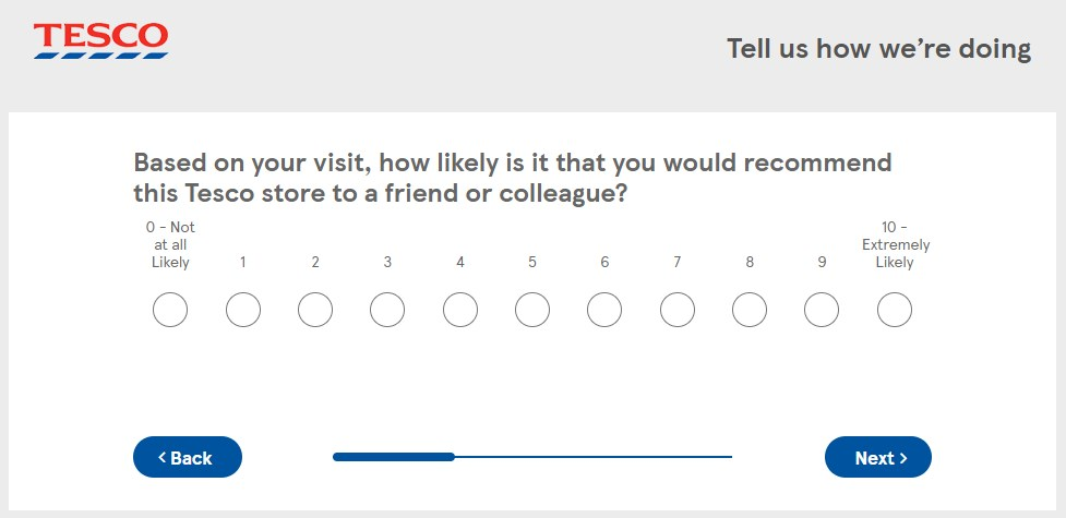 How Likely Is It That You'll Recommend Tesco
