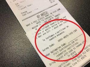 Location Of Survey Code On Dunkin Donuts Receipt For Telldunkin Survey