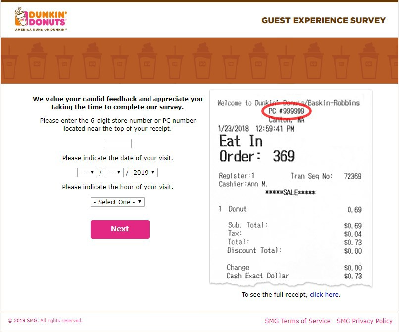 Location Of Survey Information For Telldunkin
