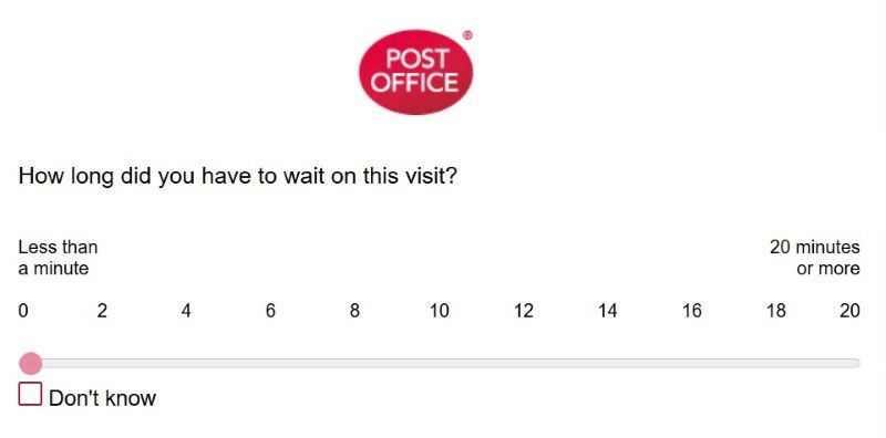Questions About Waiting Time At Postoffice.co.uk Feedback