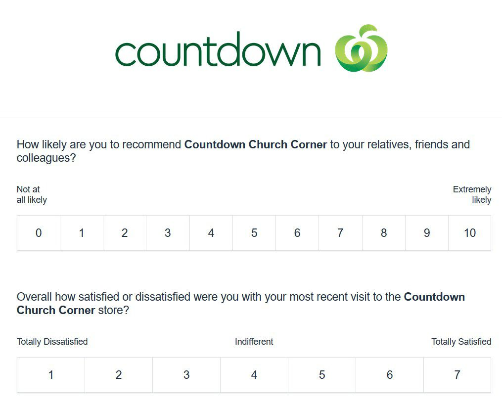 Questions About Your Experience On The Www.countdownlistens.co.nz Survey