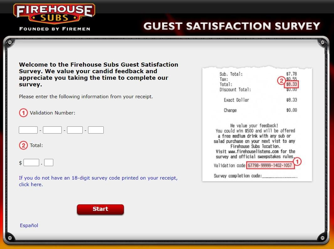 Receipt Validation For The Firehouselistens Survey