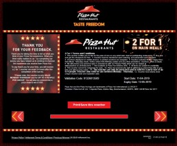 Reward For Taking Pizzahut Uk Survey