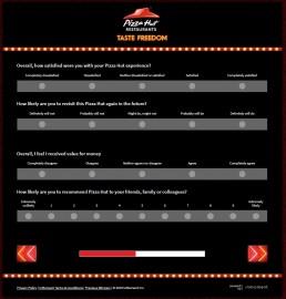 Satisfaction Of Pizzahut Experience On Tellpizzahut Survey