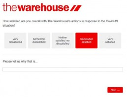 Satisfaction Rating The Warehouse Survey