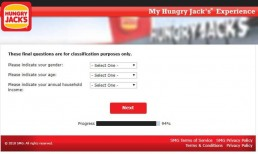 Screenshot From Hungry Jack's Survey Experience 12