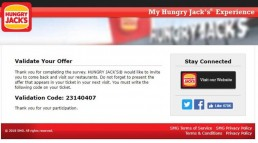 Screenshot From Hungry Jack's Survey Experience 13