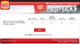 Screenshot From Hungry Jack's Survey Experience 3