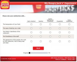 Screenshot From Hungry Jack's Survey Experience 4