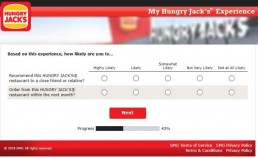Screenshot From Hungry Jack's Survey Experience 7