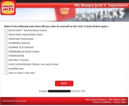 Screenshot From Hungry Jack's Survey Experience 9