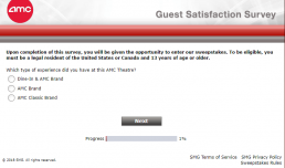 Screenshot Of Amc's Survey 1