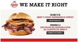 Screenshot Of Arby's Survey 1