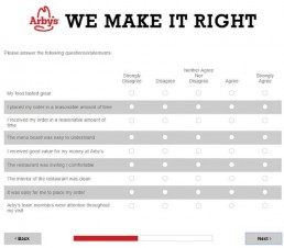 Screenshot Of Arby's Survey 8
