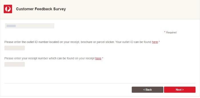 Screenshot Of Auspost Survey 2
