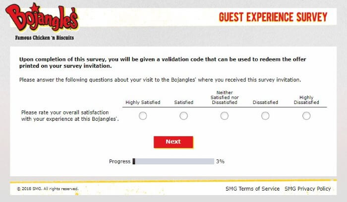 Screenshot Of Bojangleslistens Survey 2