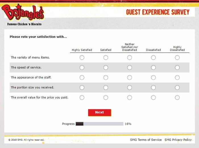 Screenshot Of Bojangleslistens Survey 4