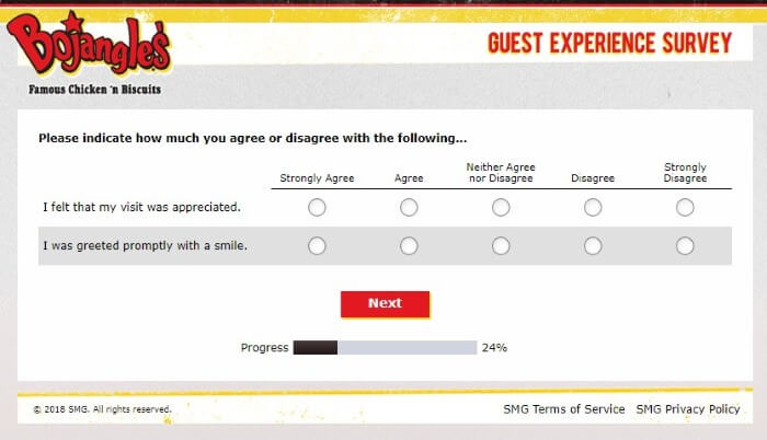Screenshot Of Bojangleslistens Survey 6