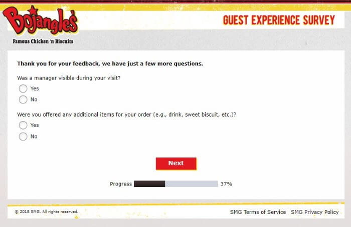 Screenshot Of Bojangleslistens Survey 7