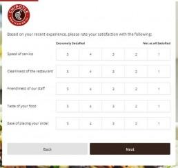 Screenshot Of Chipotlefeedback.com Survey 3