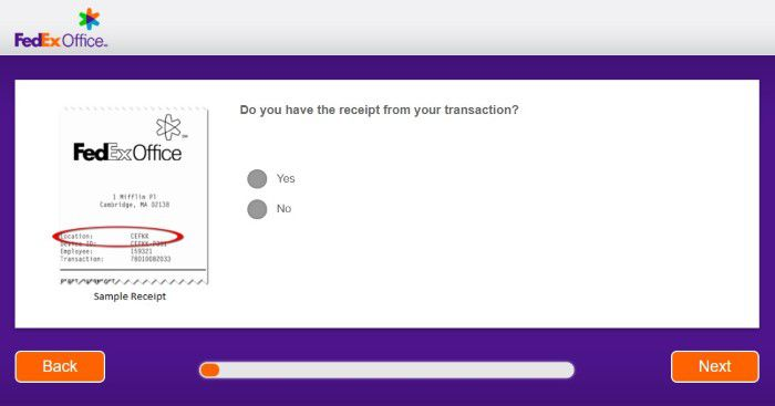 Screenshot Of Fedex Welisten Survey 1