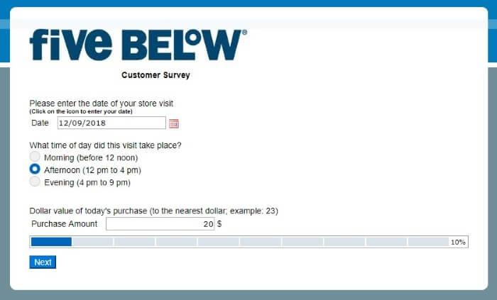 www fivebelowsurvey com • Five Below Survey • $100 Gift Card