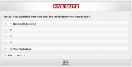 Screenshot Of Five Guys Survey 10