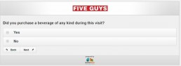 Screenshot Of Five Guys Survey 12