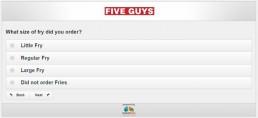Screenshot Of Five Guys Survey 14