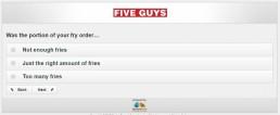 Screenshot Of Five Guys Survey 15