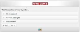 Screenshot Of Five Guys Survey 16
