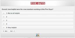 Screenshot Of Five Guys Survey 19