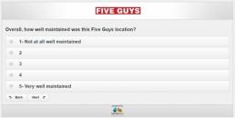 Screenshot Of Five Guys Survey 20