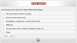 Screenshot Of Five Guys Survey 3