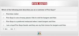 Screenshot Of Five Guys Survey 4