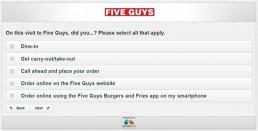 Screenshot Of Five Guys Survey 5