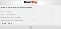 Screenshot Of Gamestop's Survey 5