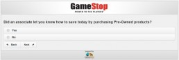 Screenshot Of Gamestop's Survey 6