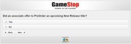 Screenshot Of Gamestop's Survey 8