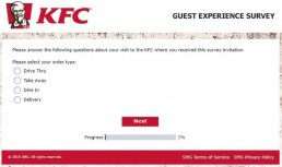 Screenshot Of Kfc's Feedback Form In Australia 1