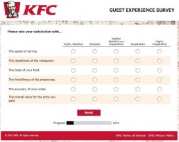 Screenshot Of Kfc's Feedback Form In Australia 4