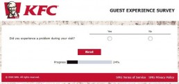 Screenshot Of Kfc's Feedback Form In Australia 6
