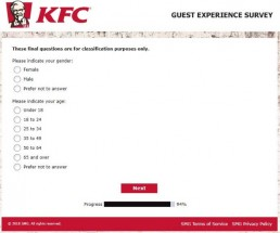 Screenshot Of Kfc's Feedback Form In Australia 7