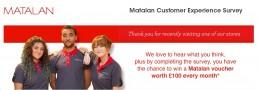 Screenshot Of Matalan Survey.co.uk